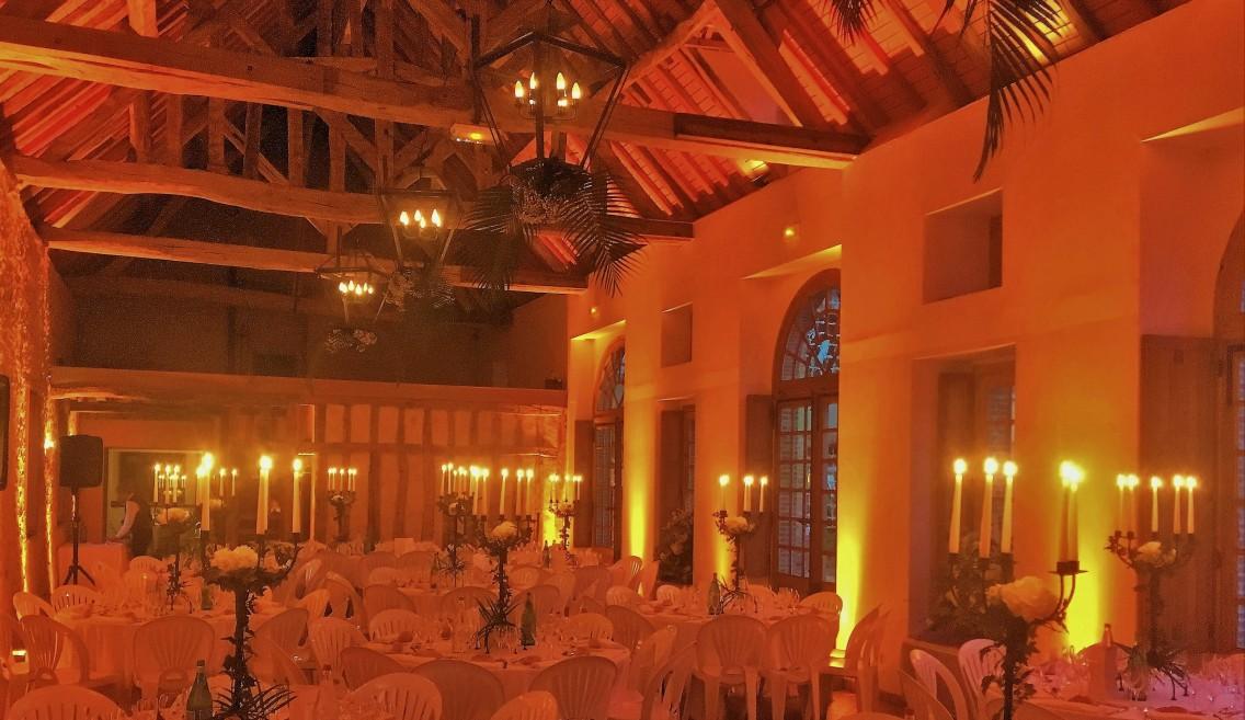 L'Orangerie de Bois le Roi, un soir de réception.